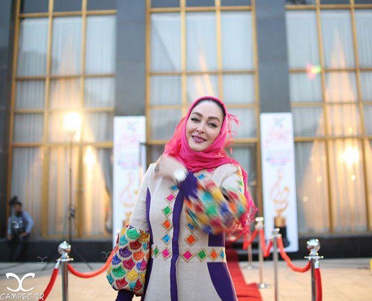 الهام حمیدی بر روی فرش قرمز جشن حافظ