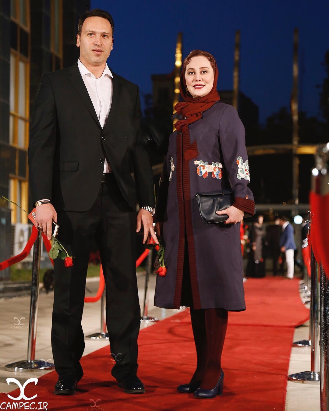 آرام جعفری با همسرش در جشن حافظ