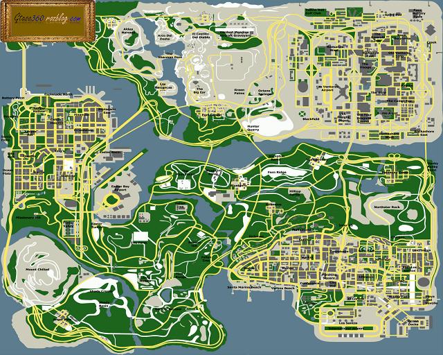 نقشه به سبک گوگل مپ برایgta sa