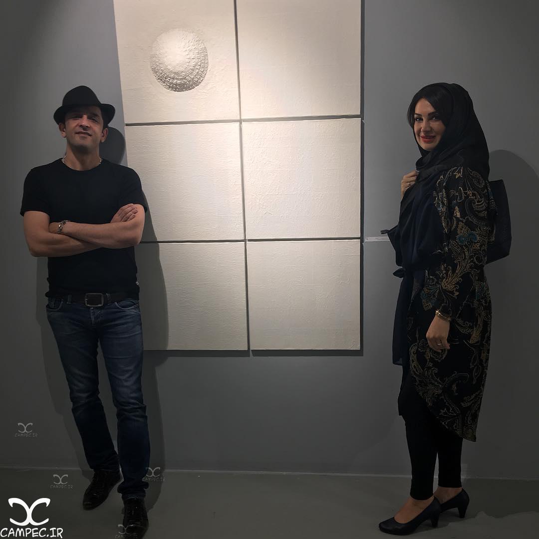 مهشید حبیبی و همسرش مجید یاسر