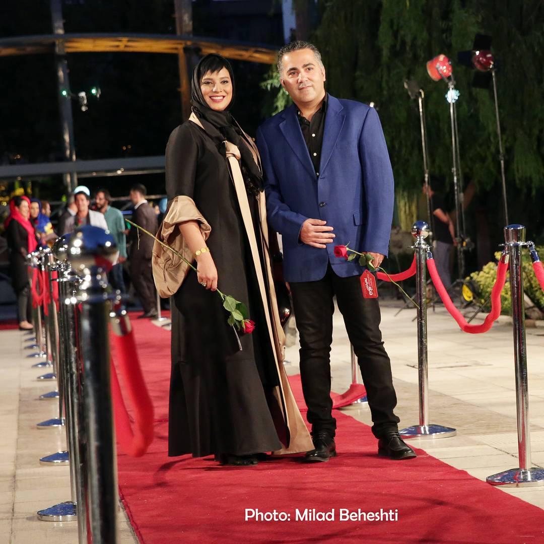 عکس روشنک عجمیان در شانزدهمین جشن حافظ