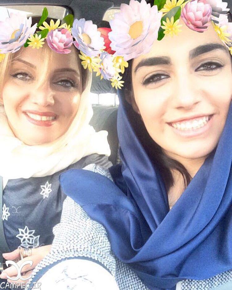 عکس سلفی الهام پاوه نژاد با دخترش