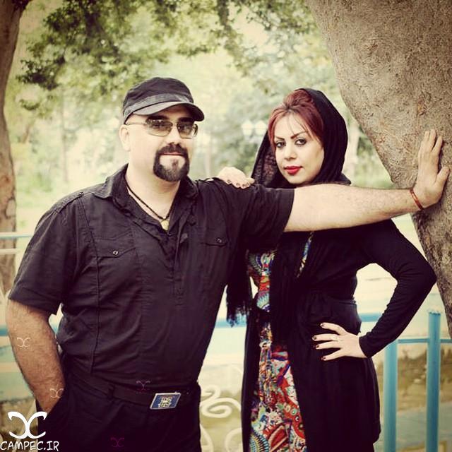 عکس زیبای امیر کاوه آهنین جان با همسرش