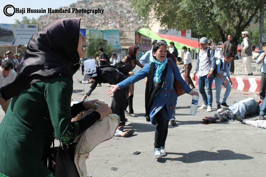 گزارش تصویری از شهدایی چوک شهدایی  روشنایی در کابل