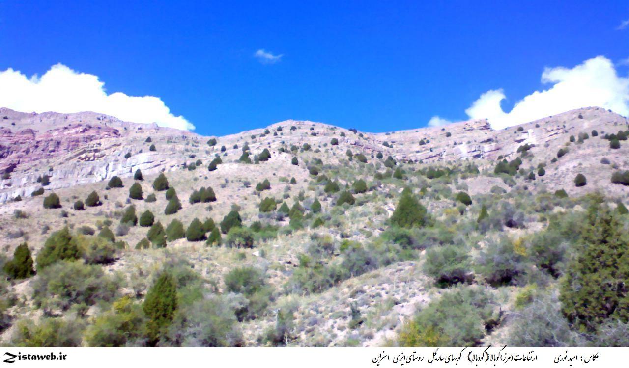 ارتفاعات (مرز) گوبالا{ گودبالا} - کوههای ساریگل-روستای ایزی-اسفراین/عکاس : آقای امید نوری