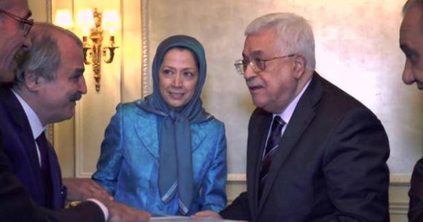 معمای دیدار مریم رجوی و محمود عباس