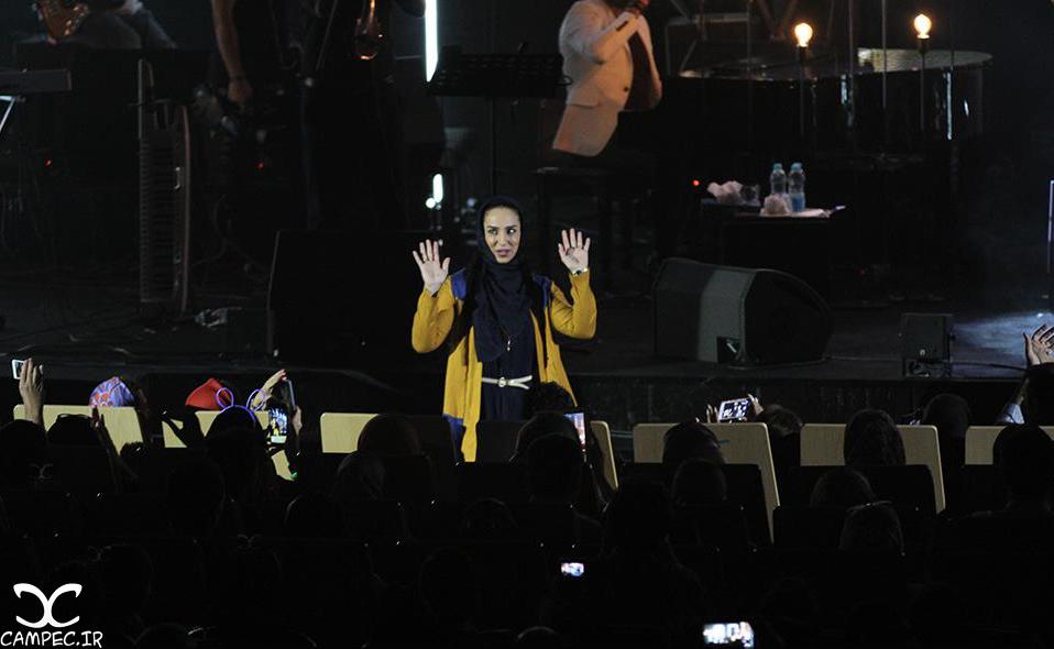 سوگل طهماسبی در کنسرت محمد علیزاده