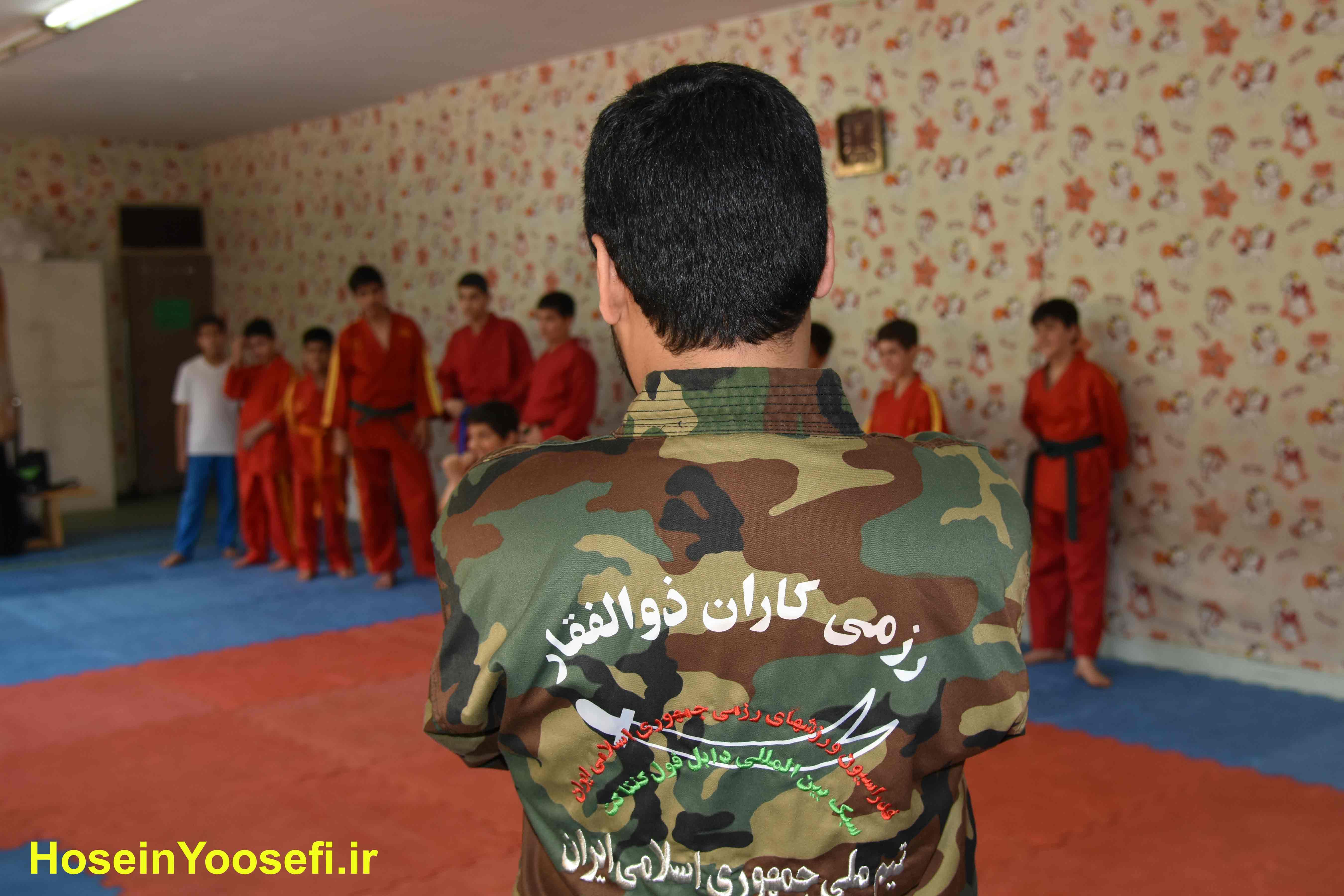 استاد حسین یوسفی در کانون قهرمانی سبک دابل فول کنتاکت