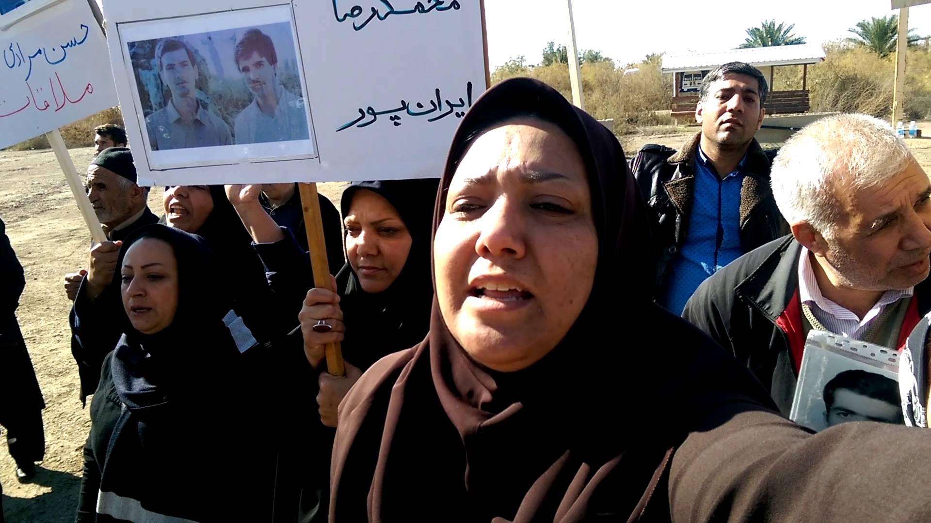 نامۀ خواهران ایران پور از خانواده های متحصن مقابل کمپ لیبرتی به کمیساریای بغداد