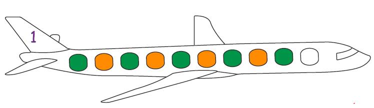 الگوهای رنگی هواپیما