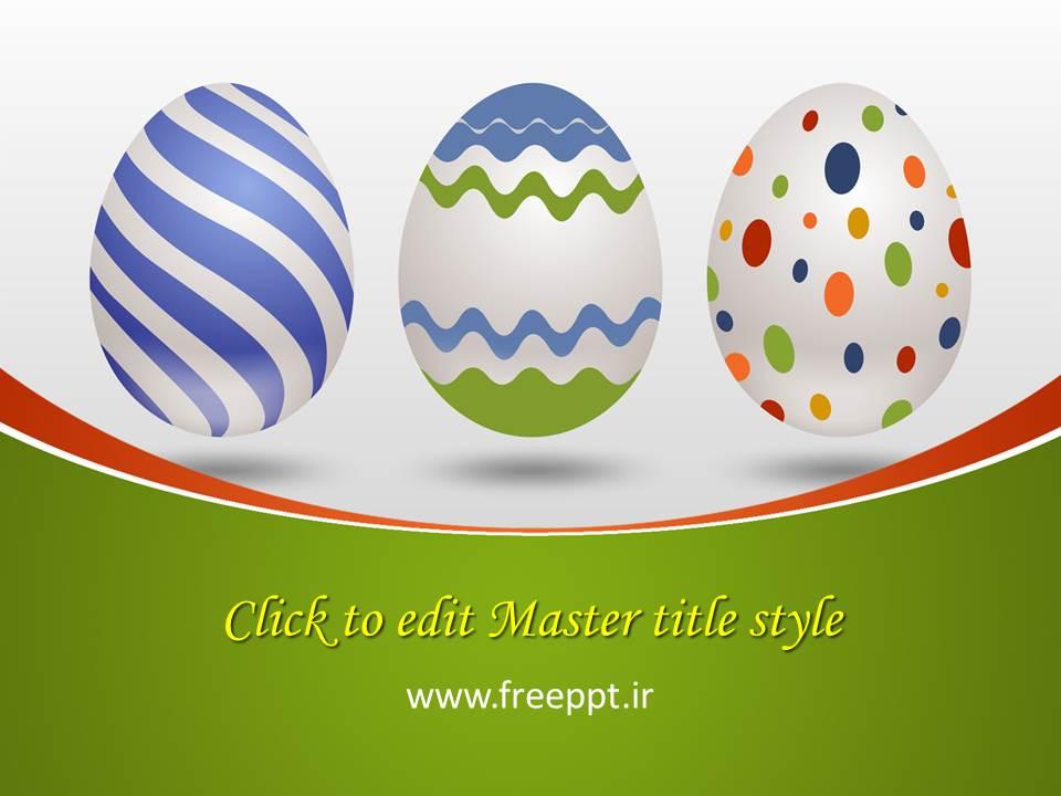 قالب پاورپوینت تخم مرغ رنگی زیبا