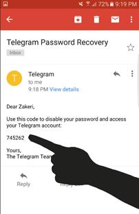 آموزش ریست در صورت فرآموشی رمز دوم اکانت تلگرام