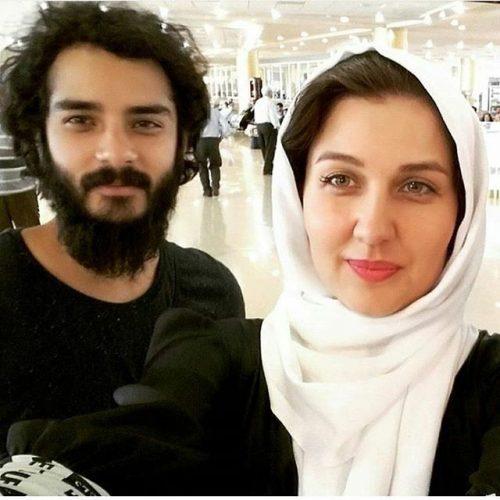 عکس های با حجاب لو رفته از گلوریا هاردی در خارج از ایران,عکس دونفره گلوریا هاردی و همسرش ساعد سهیلی