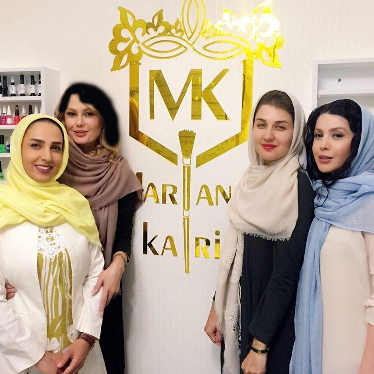نازنین کریمی و خواهرش و گلوریا هاردی و سوگل طهماسبی
