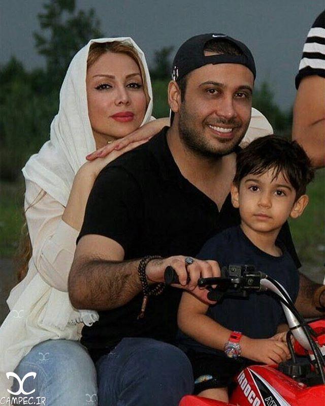 محسن چاوشی با همسر و پسرش