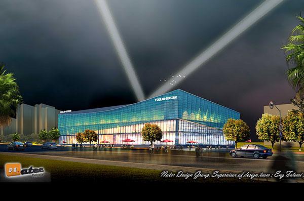 طراحی مجتمع تجاری فولادگستر