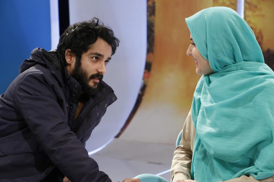 گلوریا هاردی و همسرش ساعد سهیلی در پشت صحنه خوشا شیراز