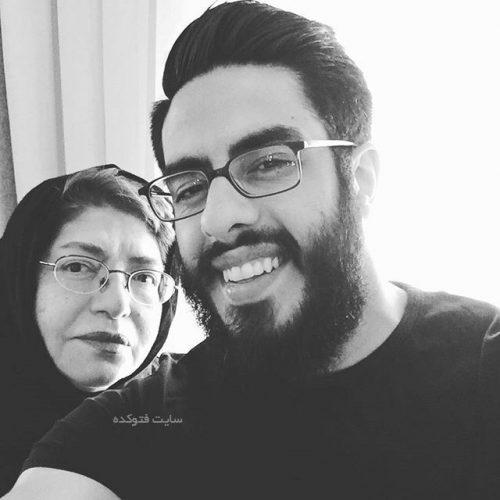 پوریا شکیبایی و مادرش پروین کوشیار