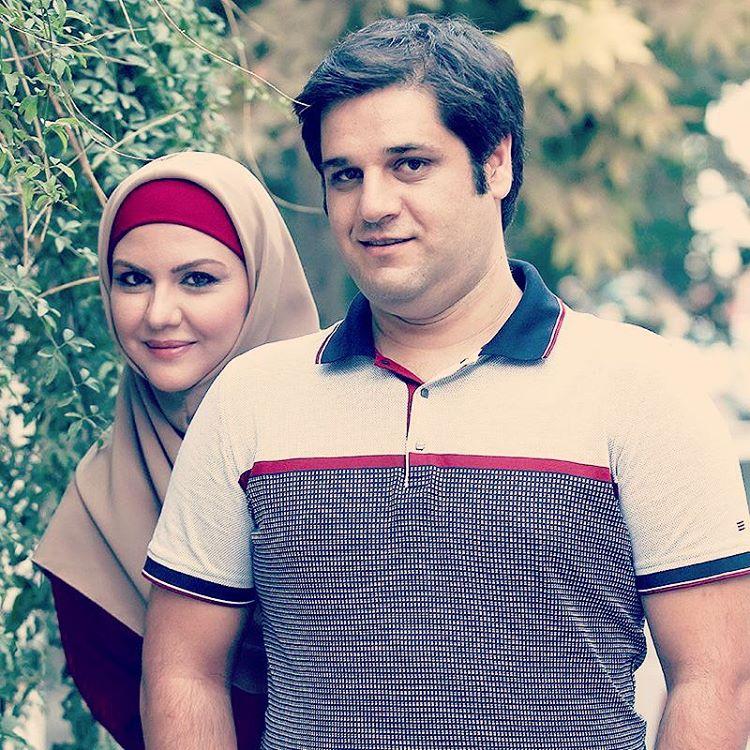 نیلوفر امینی فر و همسرش