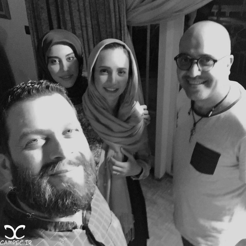شبنم قلی خانی و آشا محرابی بازیگران سریال هشت و نیم دقیقه