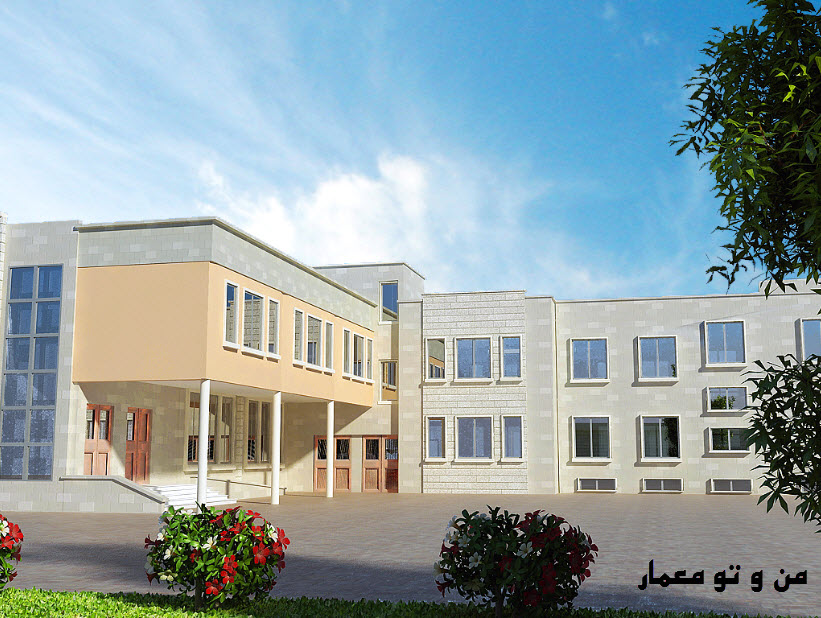 طرح معماری کامل دبیرستان