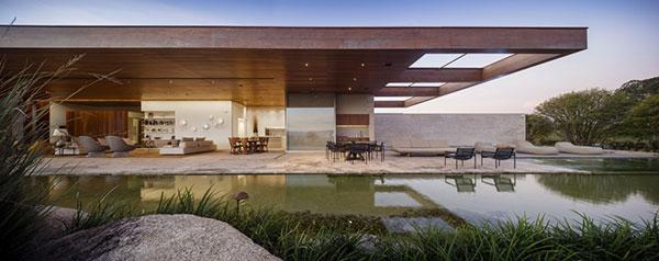 طراحی خانه تابستانی پیوسته با فضای باز
