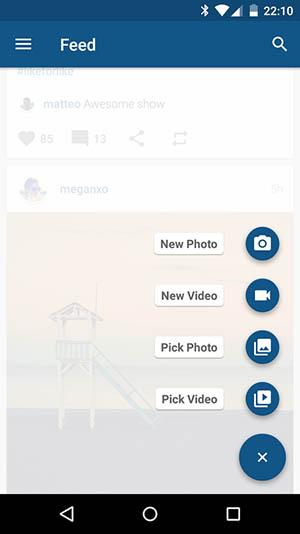 برنامه افقی کردن اینستاگرام در تبلت Imagine for Instagram 4.0.7