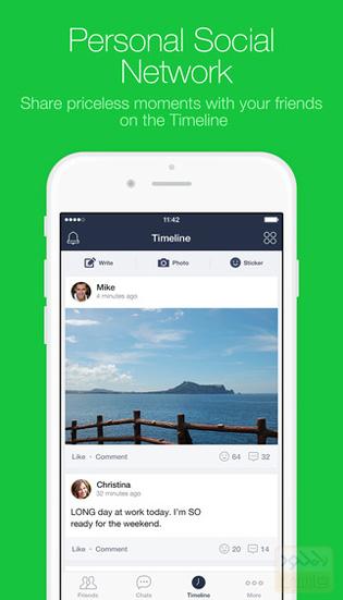 دانلود برنامه پیام رسان لاین LINE برای آی او اس IOS و آیپد نسخه ی جدید