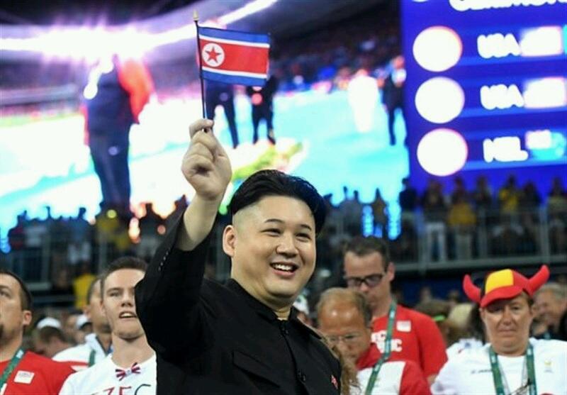 حضور بدل رهبر کره شمالي در مراسم اختتاميه المپيک