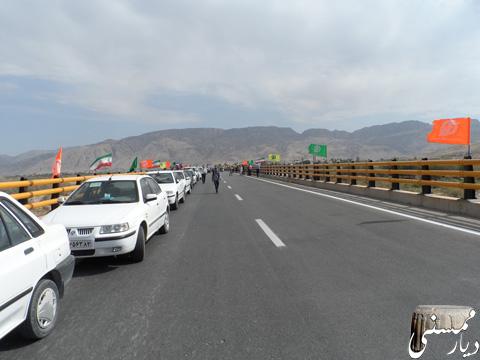 افتتاح پل جدید فهلیان رستم