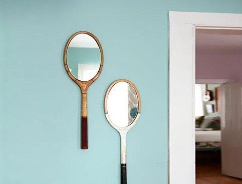 image دکور دیوار- آینه در قاب راکت تنیس