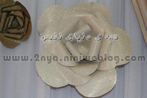 gol_moghava_ziba_tavalod_dekor گل مقوا دکوراتیو چرم اکلیلی