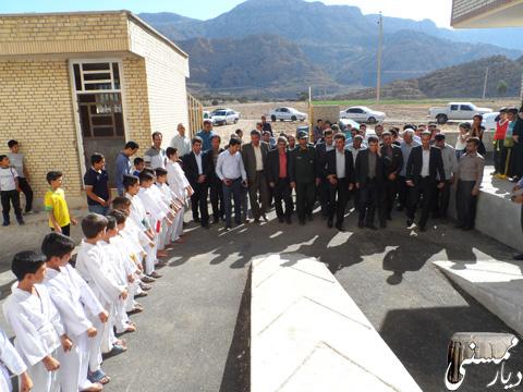 افتتاح سالن ورزشی خومه زار