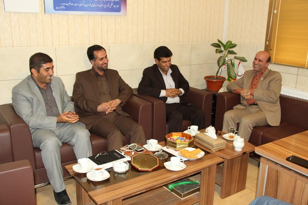 دیدار مدیرعامل هلال احمر فارس با سه مدیر نورآبادی
