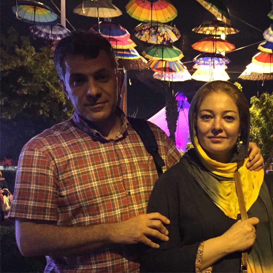 رزیتا غفاری و همسرش عباس صالحی