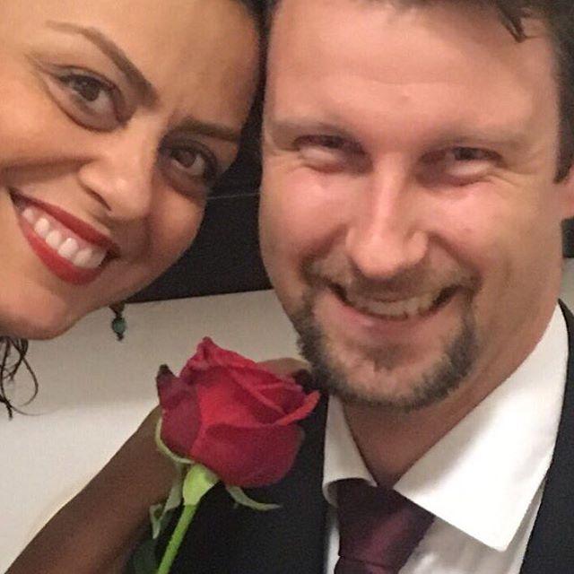 عکس شبنم فرشادجو با همسر آلمانی اش
