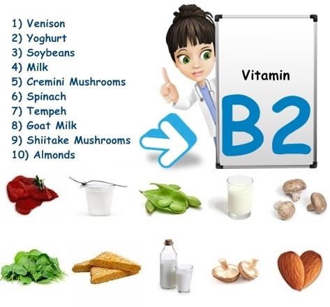 چه غذاهایی ویتامین ب2 دارد