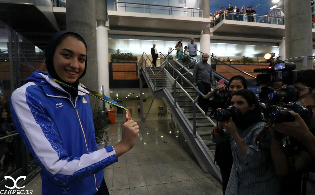 کیمیا علیزاده در بازگشت از المپیک برزیل