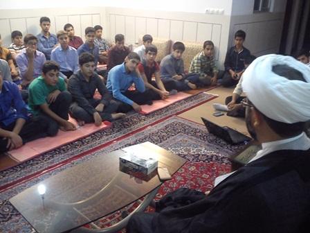 جلسه صابرین در دفتر امام جمعه قهدریجان