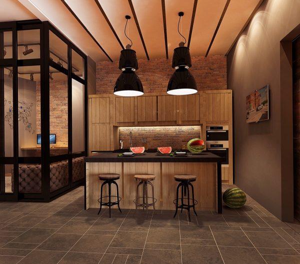 آشپزخانه به سبک صنعتی6