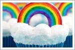 کاپ کیک های رنگی