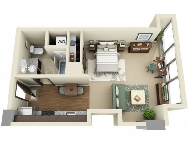 پلان و چیدمان منزل کوچک9