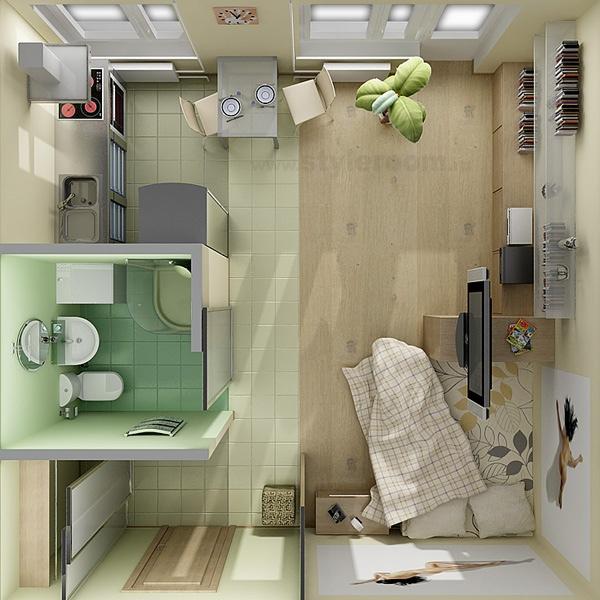 نقشه و چیدمان در خانه های کوچک با متراژ کم