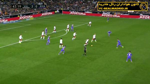 خلاصه بازی والنسیا 2-1 رئالمادرید