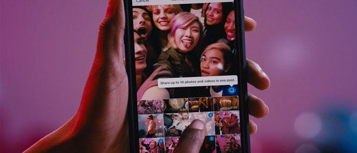 آموزش تصویری قراردادن آلبوم تصاویر و ویدئوها در اینستاگرام
