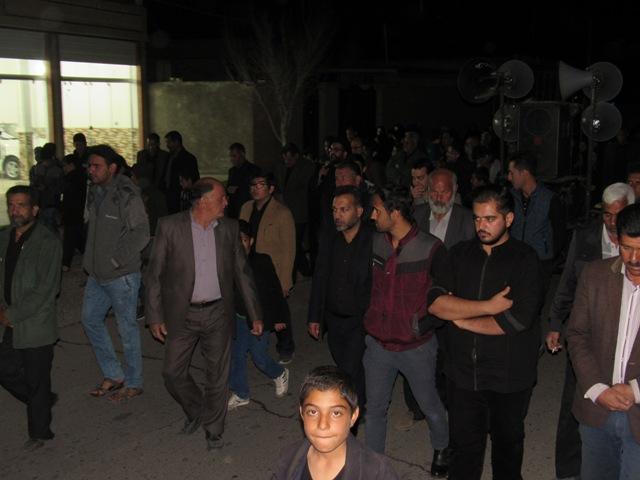 مراسم فاطمیه در محله صادقیون رفسنجان