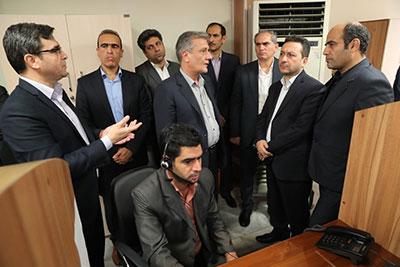 افتتاح مرکز تماس بانک ملی ایران