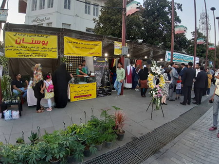 بازدید رییس کمیسیون فرهنگی اجتماعی شورای اسلامی شهر رشت از نخستین نمایشگاه نهضت مهارت افزایی