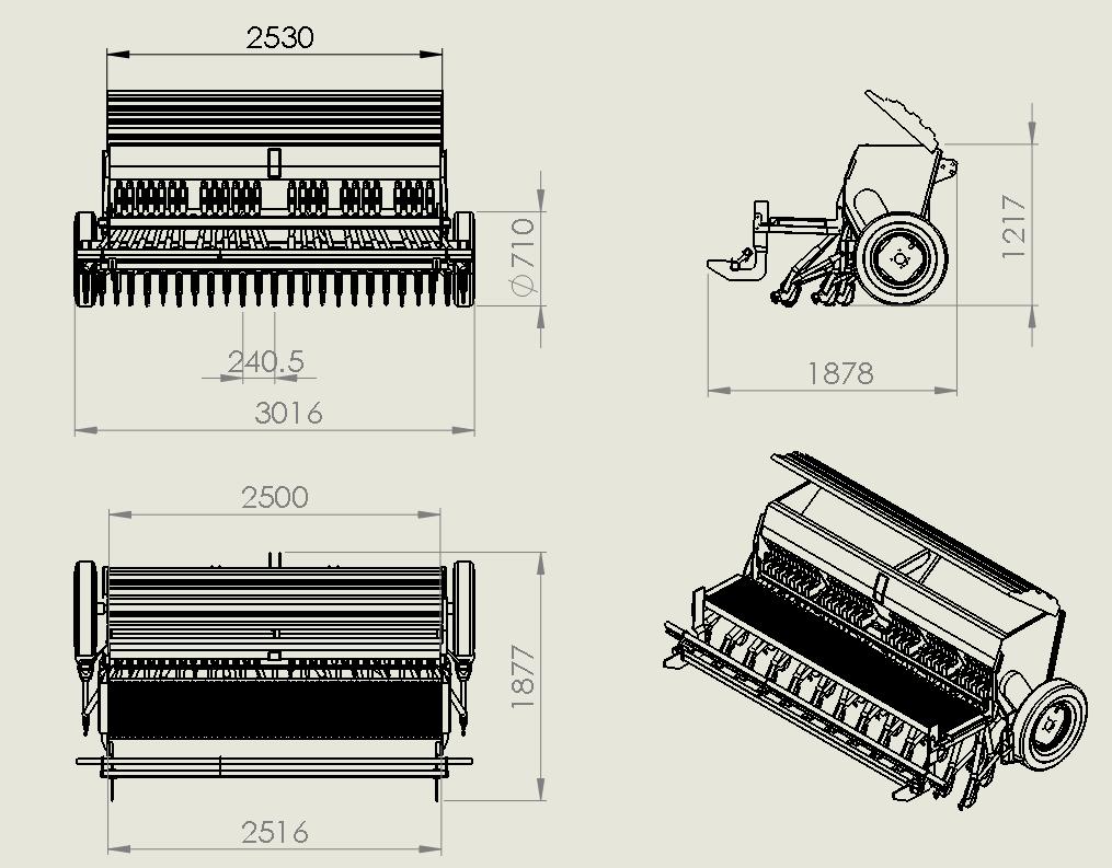 دانلود پروژه طراحی شده خطی کار 24 ردیفه در سالیدورک ( solidwork ) | تلماتو