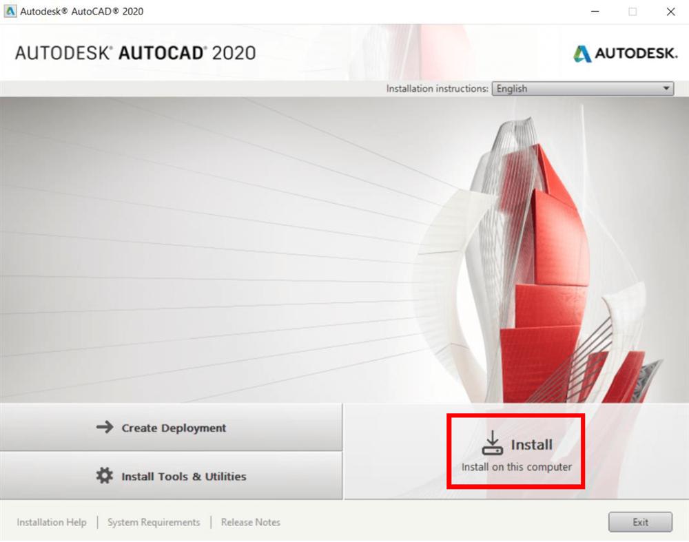 آموزش و راهنمای تصویری نحوه نصب و فعالسازی ( کرک ) نرم افزار اتوکد 2020 ( AutoCAD )